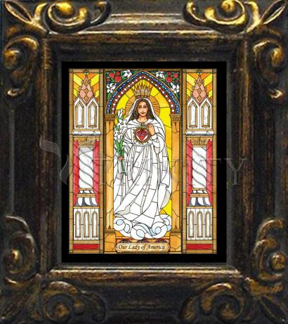 Mini Magnet Frame - Our Lady of America by B. Nippert