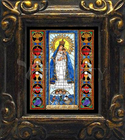 Mini Magnet Frame - Our Lady of Caridad del Cobra by B. Nippert