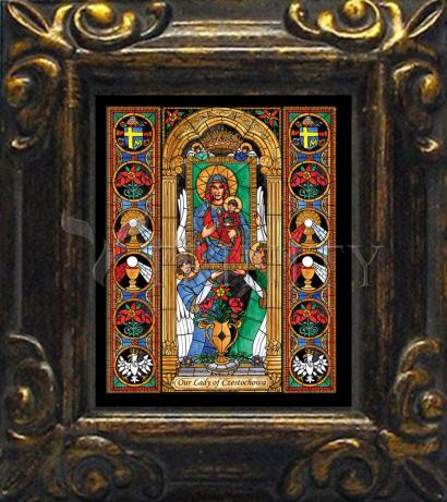 Mini Magnet Frame - Our Lady of Czestochowa by B. Nippert