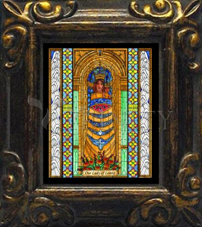 Mini Magnet Frame - Our Lady of Loreto by B. Nippert