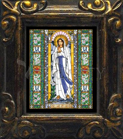 Mini Magnet Frame - Our Lady of Lourdes by B. Nippert