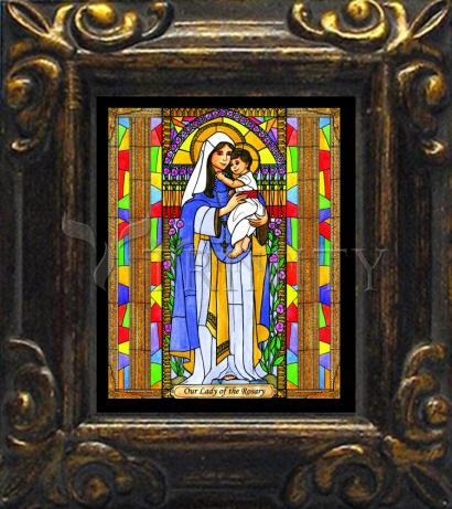 Mini Magnet Frame - Our Lady of the Rosary by B. Nippert
