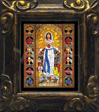Mini Magnet Frame - Mary, Mother of Mercy by B. Nippert