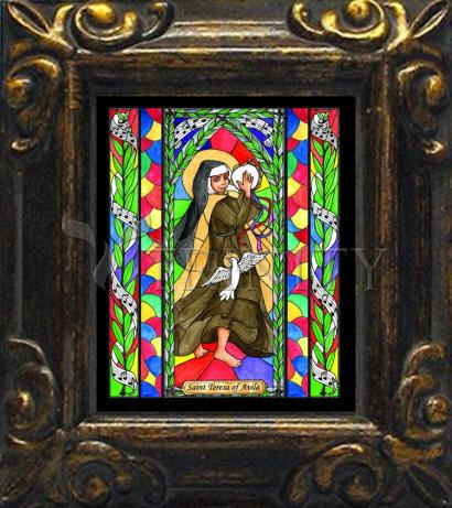 Mini Magnet Frame - St. Teresa of Avila by B. Nippert