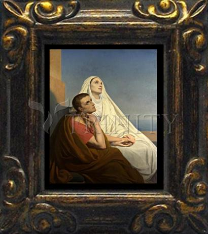 Mini Magnet Frame - Sts. Augustine and Monica by Museum Art