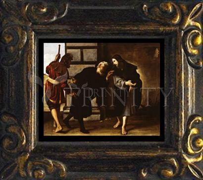 Mini Magnet Frame - Christ and Two Followers on Road to Emmaus by Museum Art