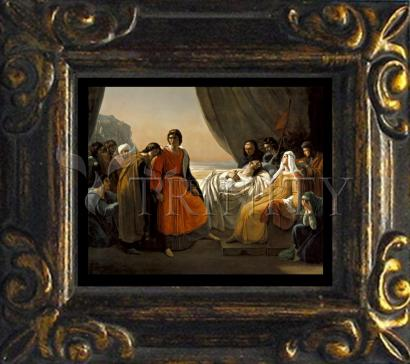Mini Magnet Frame - Death of St. Louis, King of France by Museum Art