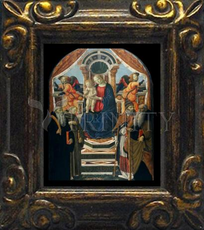 Mini Magnet Frame - Madonna and Child Enthroned with Saints and Angels by Museum Art