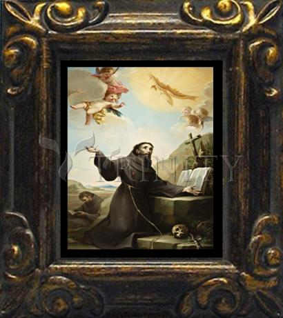 Mini Magnet Frame - St. Francis of Assisi Receiving Stigmata by Museum Art