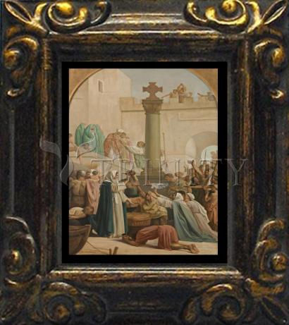 Mini Magnet Frame - St. Genevieve Distributing Bread to Poor During Siege of Paris by Museum Art