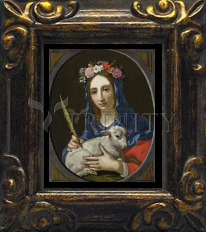 Mini Magnet Frame - St. Agnes by Museum Art