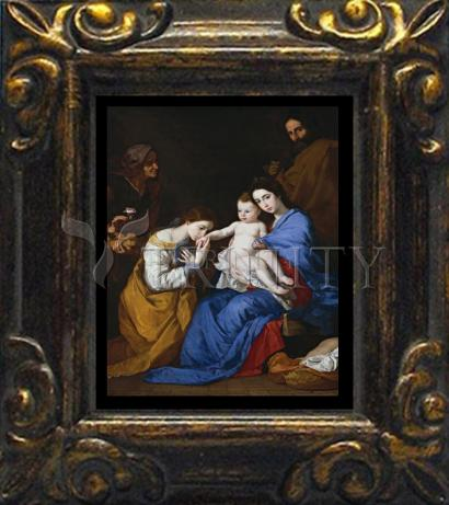 Mini Magnet Frame - Holy Family with Sts. Anne and Catherine of Alexandria by Museum Art