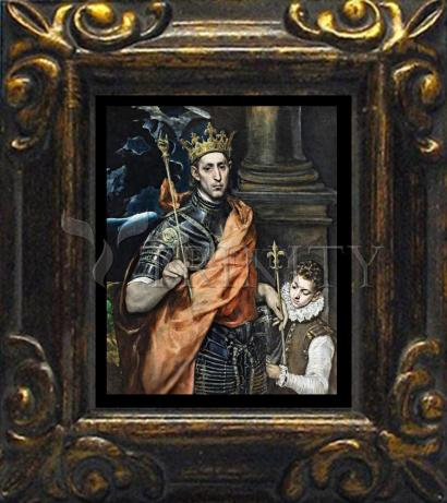Mini Magnet Frame - St. Louis, King of France by Museum Art