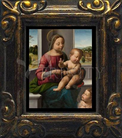 Mini Magnet Frame - Madonna and Child with Young St. John the Baptist by Museum Art