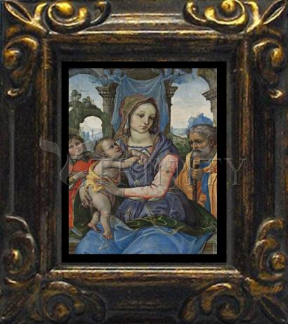 Mini Magnet Frame - Madonna and Child with St. Joseph and Angel by Museum Art