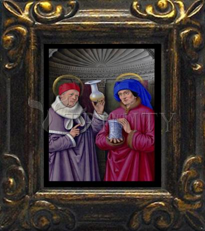 Mini Magnet Frame - Sts. Cosmas and Damian by Museum Art