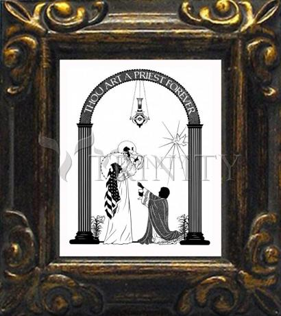 Mini Magnet Frame - Thou Art A Priest Forever by D. Paulos