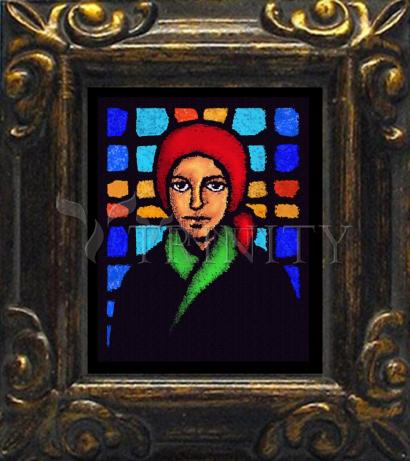 Mini Magnet Frame - St. Bernadette of Lourdes - Stained Glass by D. Paulos