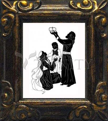 Mini Magnet Frame - Behold Thy King by D. Paulos
