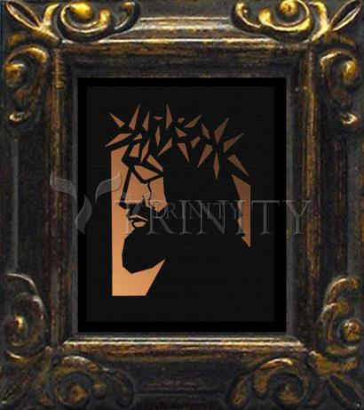 Mini Magnet Frame - Christ Hailed as King - Brown Glass by D. Paulos