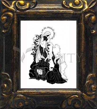"""Mini Magnet Frame - Our Lady and St. Bernadette of Lourdes - """"I Love Thee, Madame""""  by D. Paulos"""