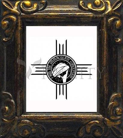 """Mini Magnet Frame - """"I am the Immaculate Conception"""" by D. Paulos"""