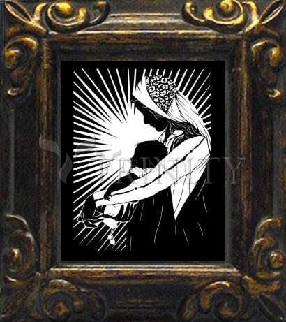 Mini Magnet Frame - Our Lady of the Light - ver.1 by D. Paulos