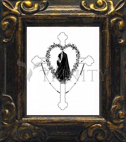 Mini Magnet Frame - Our Lady of the Rosary by D. Paulos