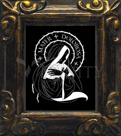 Mini Magnet Frame - Mater Dolorosa - Mother of Sorrows by D. Paulos