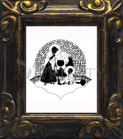 Mini Magnet Frame - Our Lady, Servant by D. Paulos