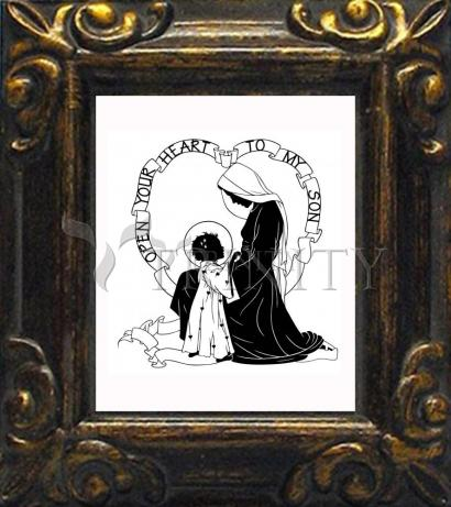 Mini Magnet Frame - Open Your Heart To My Son - ver.1 by D. Paulos