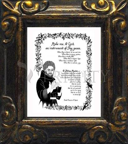 Mini Magnet Frame - Prayer of St. Francis by D. Paulos
