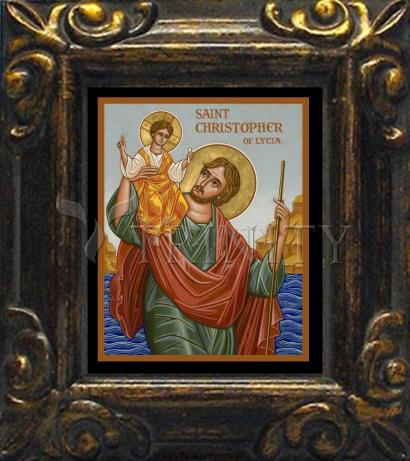 Mini Magnet Frame - St. Christopher by J. Cole