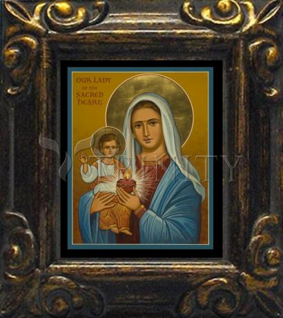 Mini Magnet Frame - Our Lady of the Sacred Heart by J. Cole