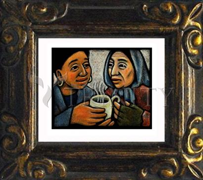 Mini Magnet Frame - Blessed Are the Poor by J. Lonneman
