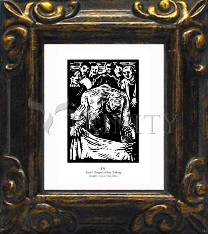 Mini Magnet Frame - Women's Stations of the Cross 09 - Jesus is Stripped of His Clothing by J. Lonneman