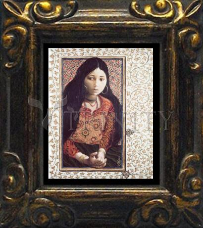 Mini Magnet Frame - The Daughter of Jairus by L. Glanzman
