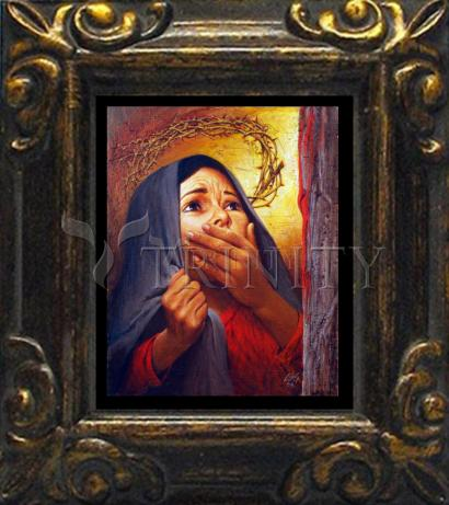 Mini Magnet Frame - Mary at the Cross by L. Glanzman