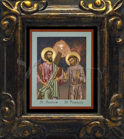 Mini Magnet Frame - Sts. Andrew and Francis of Assisi by L. Williams
