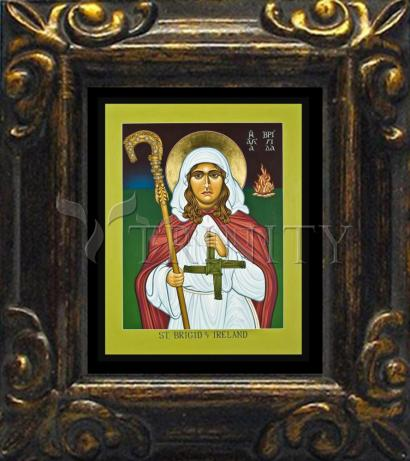 Mini Magnet Frame - St. Brigid of Ireland by L. Williams