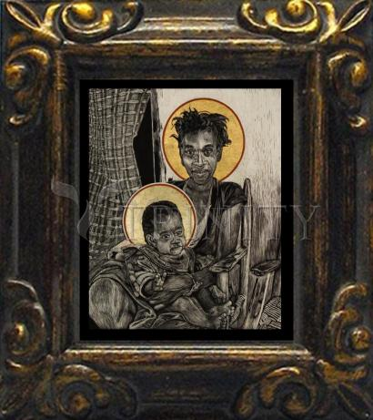 Mini Magnet Frame - Christmas Madonna - Haiti by L. Williams