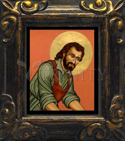 Mini Magnet Frame - St. Joseph the Worker by L. Williams