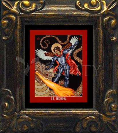 Mini Magnet Frame - St. Michael Archangel by L. Williams