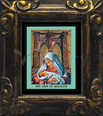 Mini Magnet Frame - Our Lady of Brooklyn by L. Williams