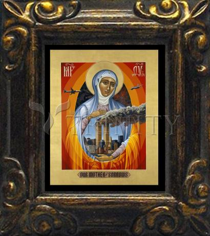 Mini Magnet Frame - Mater Dolorosa - Mother of Sorrows by L. Williams