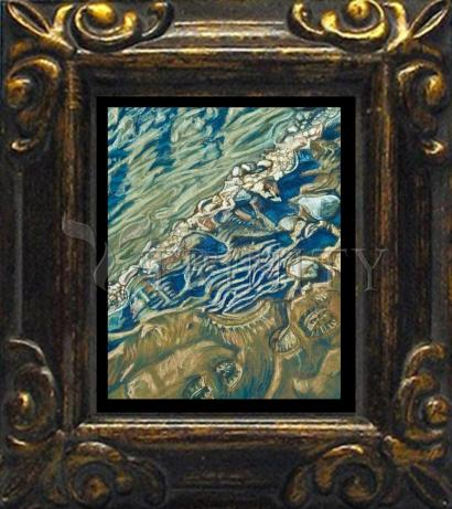 Mini Magnet Frame - Shoe Prints on the Bank by L. Williams