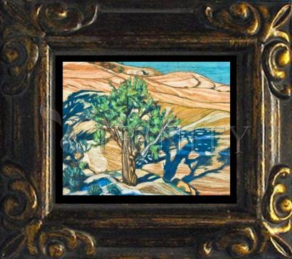 Mini Magnet Frame - Tree Shadow on Slickrock by L. Williams