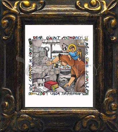 Mini Magnet Frame - St. Anthony of Padua by M. McGrath