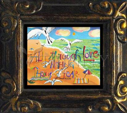 Mini Magnet Frame - All Through Love by M. McGrath