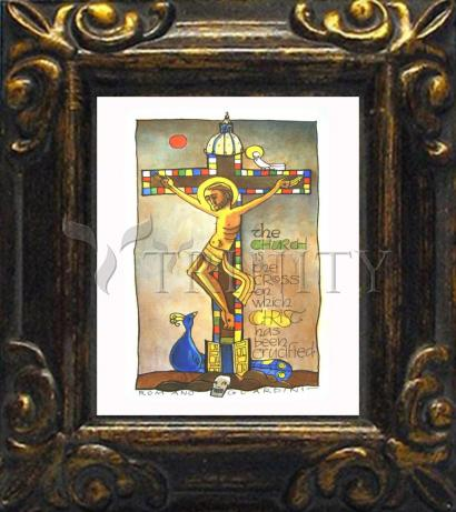 Mini Magnet Frame - Church Cross by M. McGrath